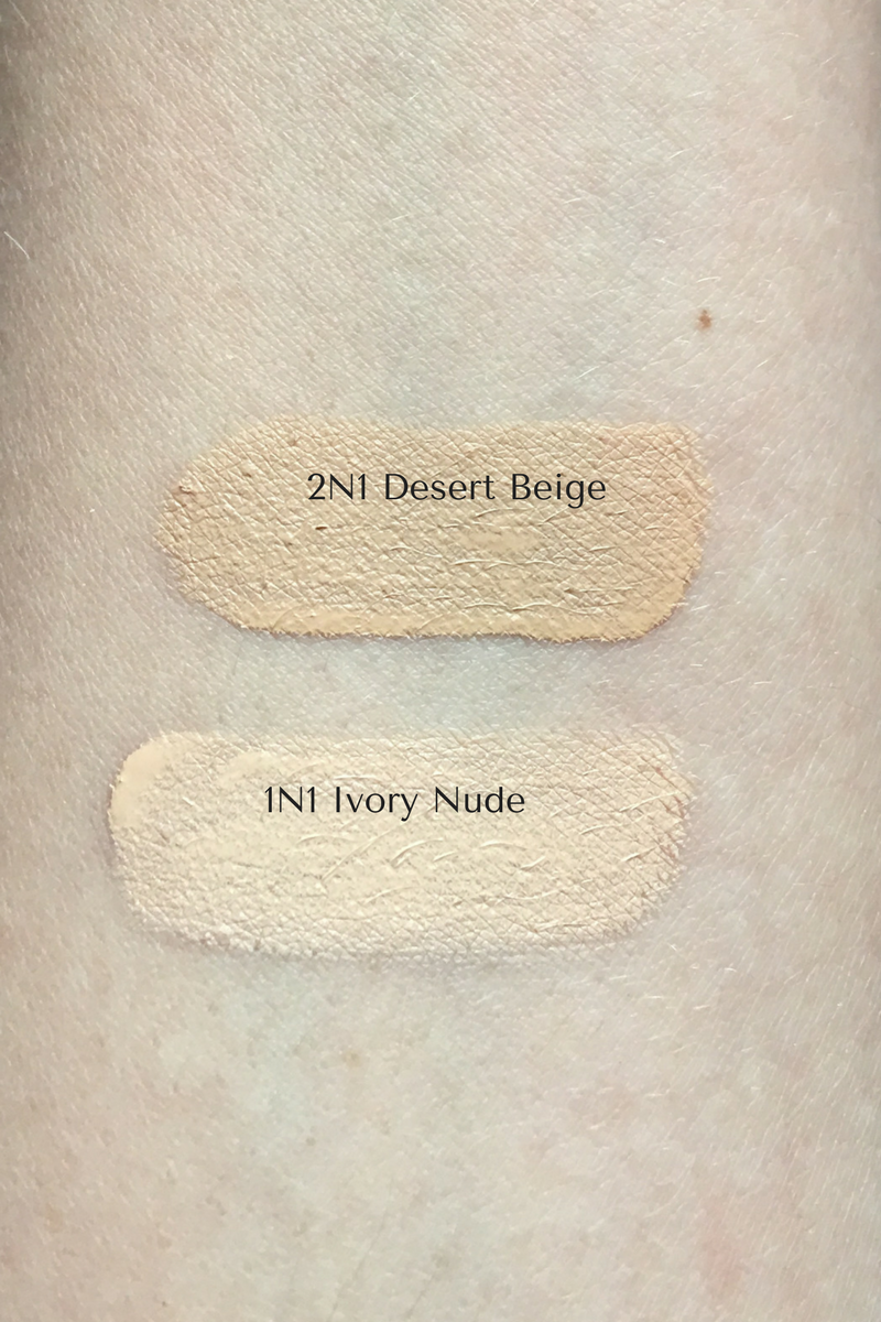 In the summer I mix the lightest neutral shade available, 1N1, with the darker 2N1 shade.