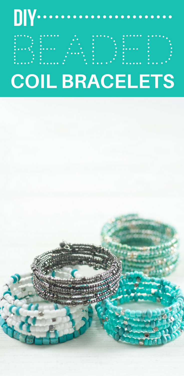 DIY BEADED COIL BRACELETS — Bit & Bauble