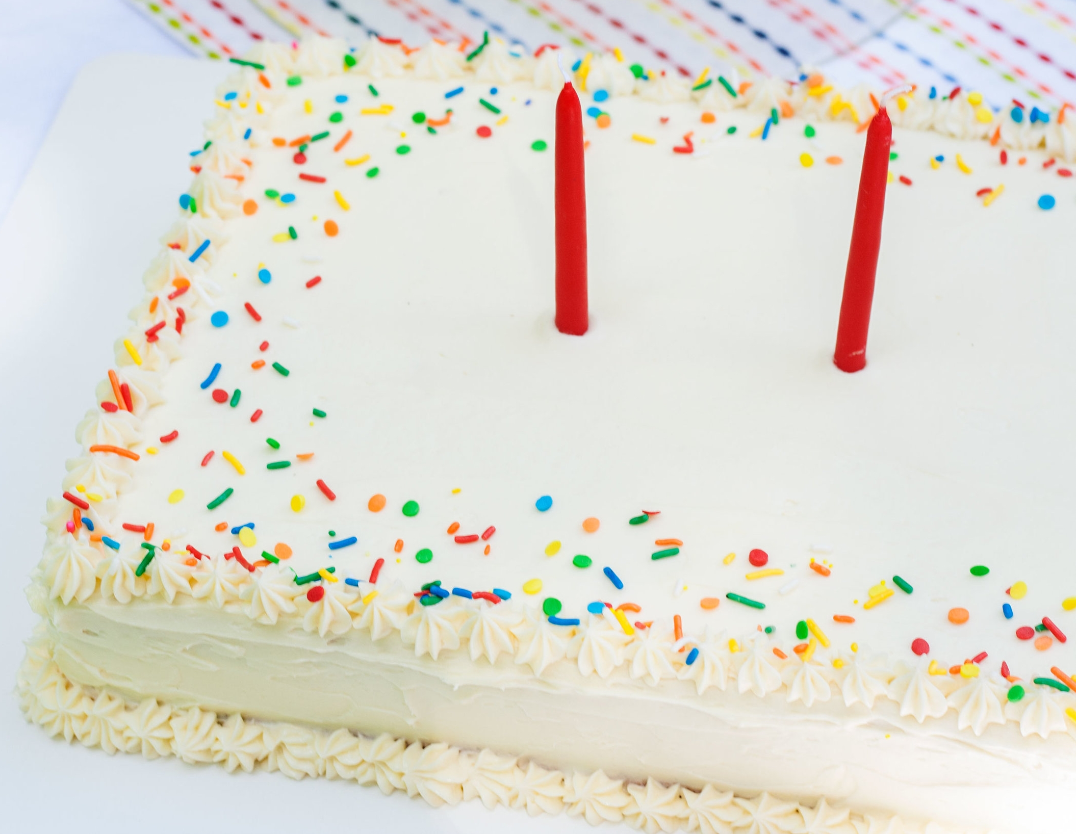 Fabulous Confetti Sheet Cake Bit Bauble Birthday Cards Printable Riciscafe Filternl