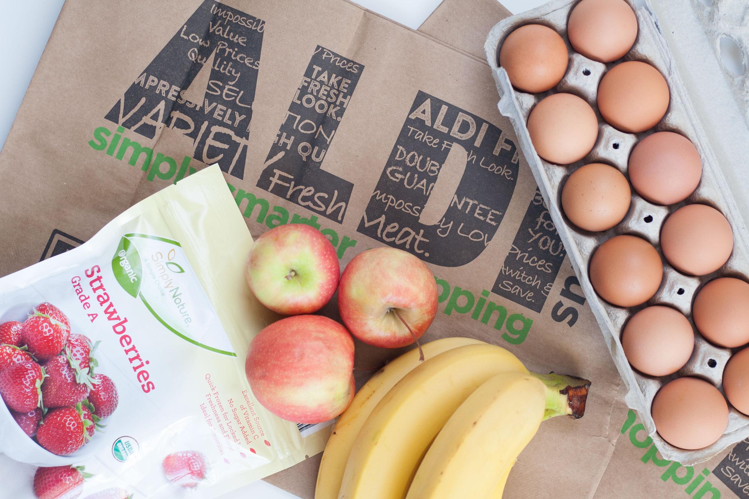 affordable organic grocery food ingredients aldi