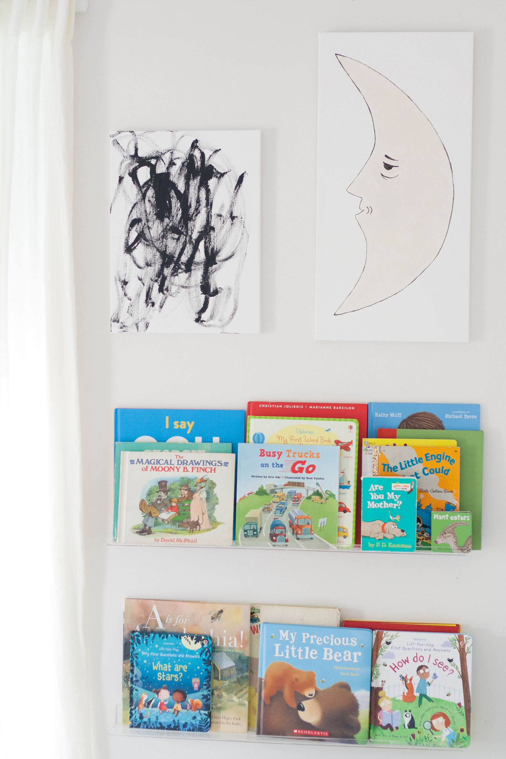 Diy Nursery Art Painting With A Toddler Bit Bauble