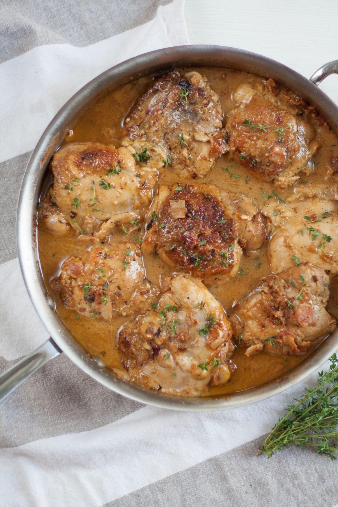 mustard chicken bacon david lebovitz recipe