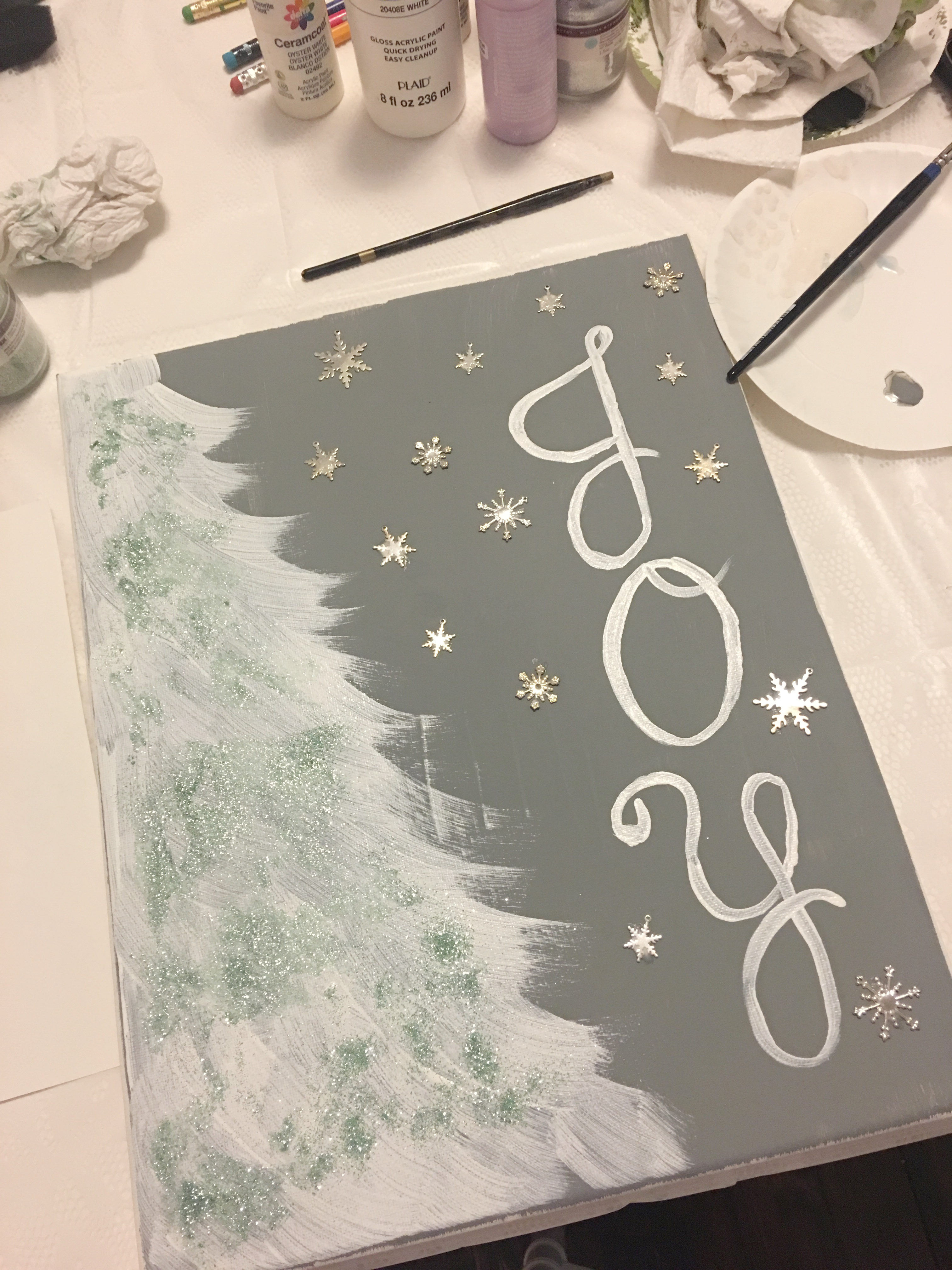 diy host holiday paint and sip party easy christmas tree painting