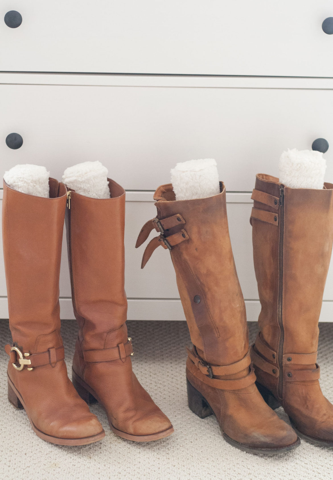 DIY Sherpa Stylish Boot Stuffer Stand Organization