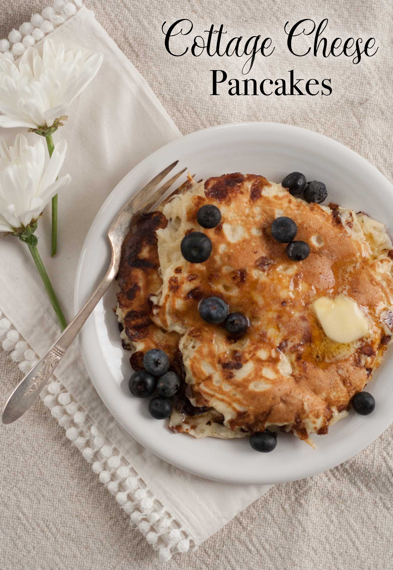 healthy easy cottage cheese pancake recipe
