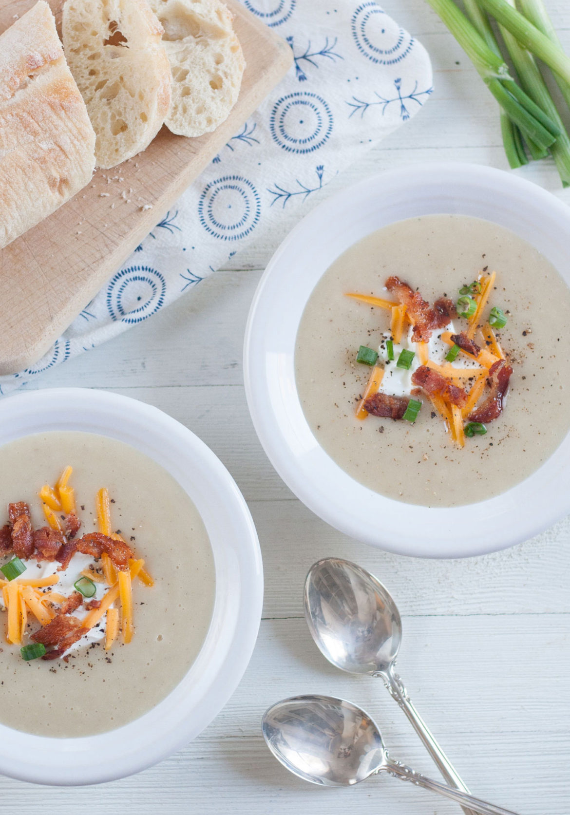 loaded baked potato cauliflower soup recipe