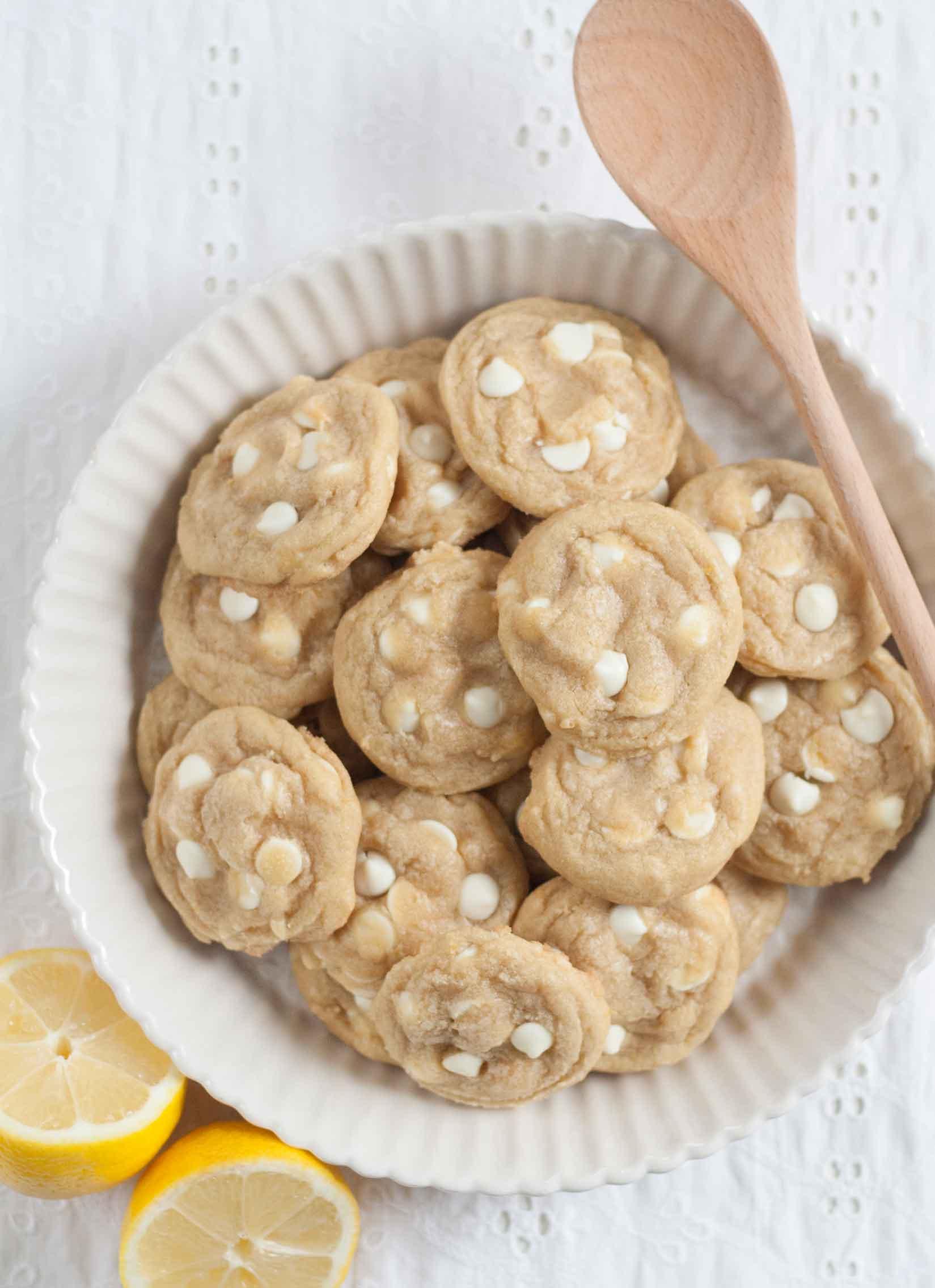 Copycat Panera Lemon Drop Cookies - Bit