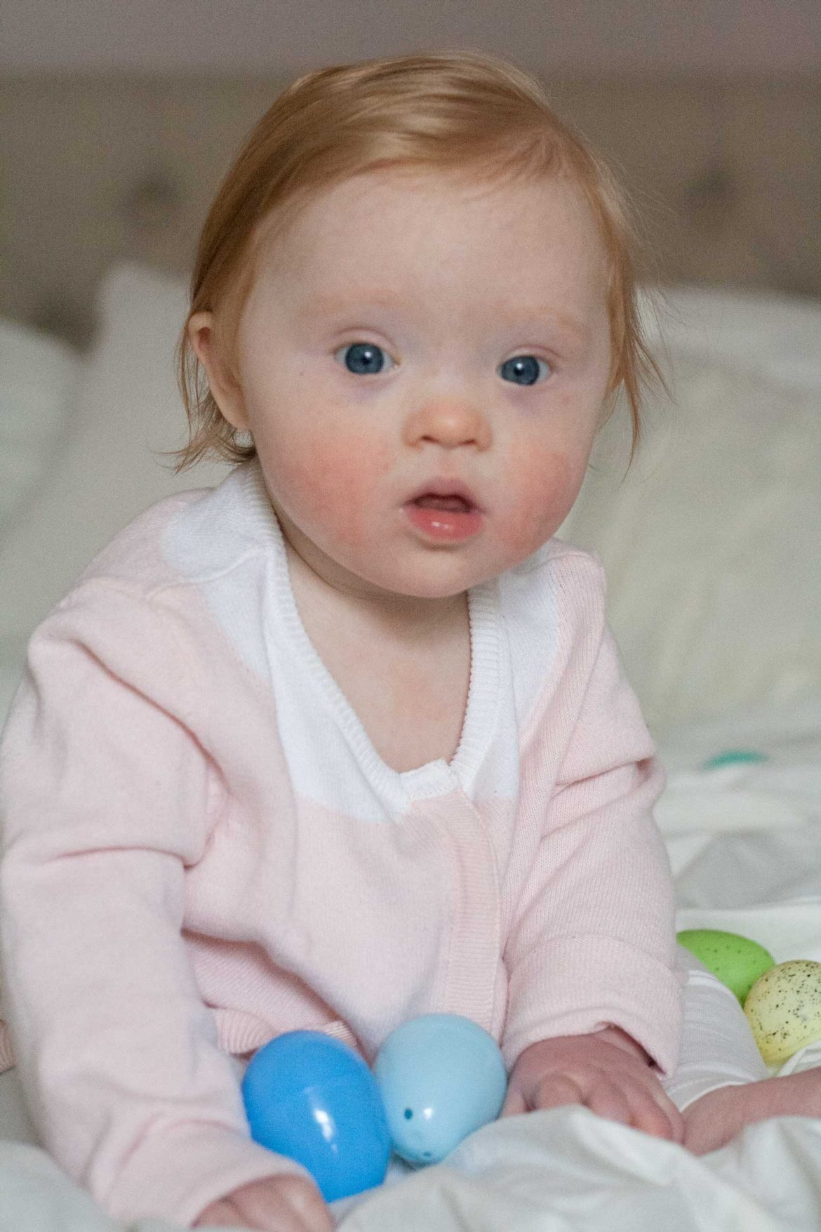 elsa 10 month baby update down syndrome development