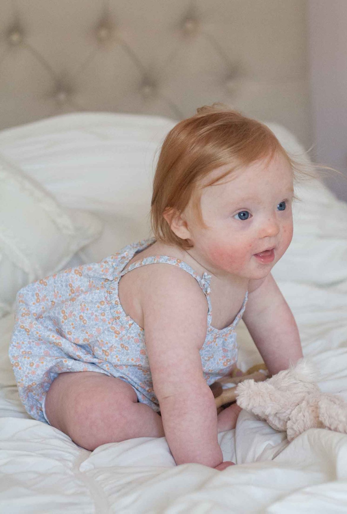 elsa 11 month update baby development down syndrome