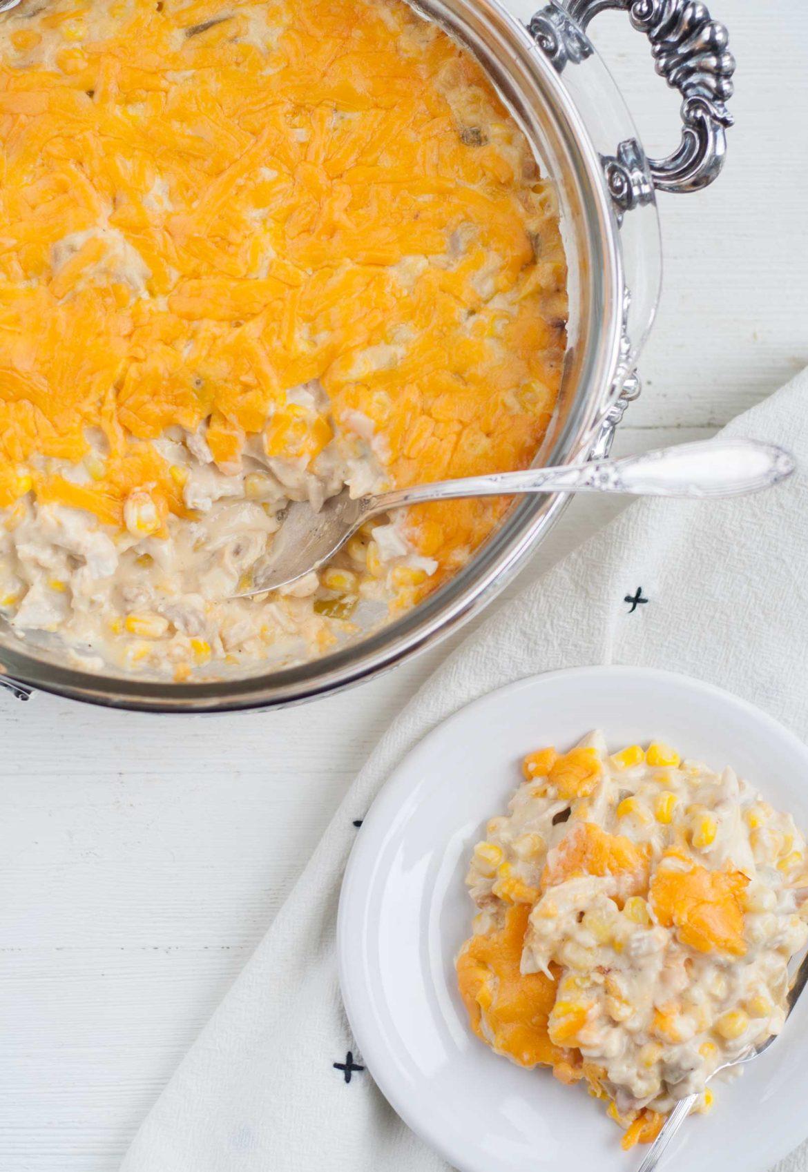 quick easy cheese corn casserole chicken chiles recipe finlandia cheese dip