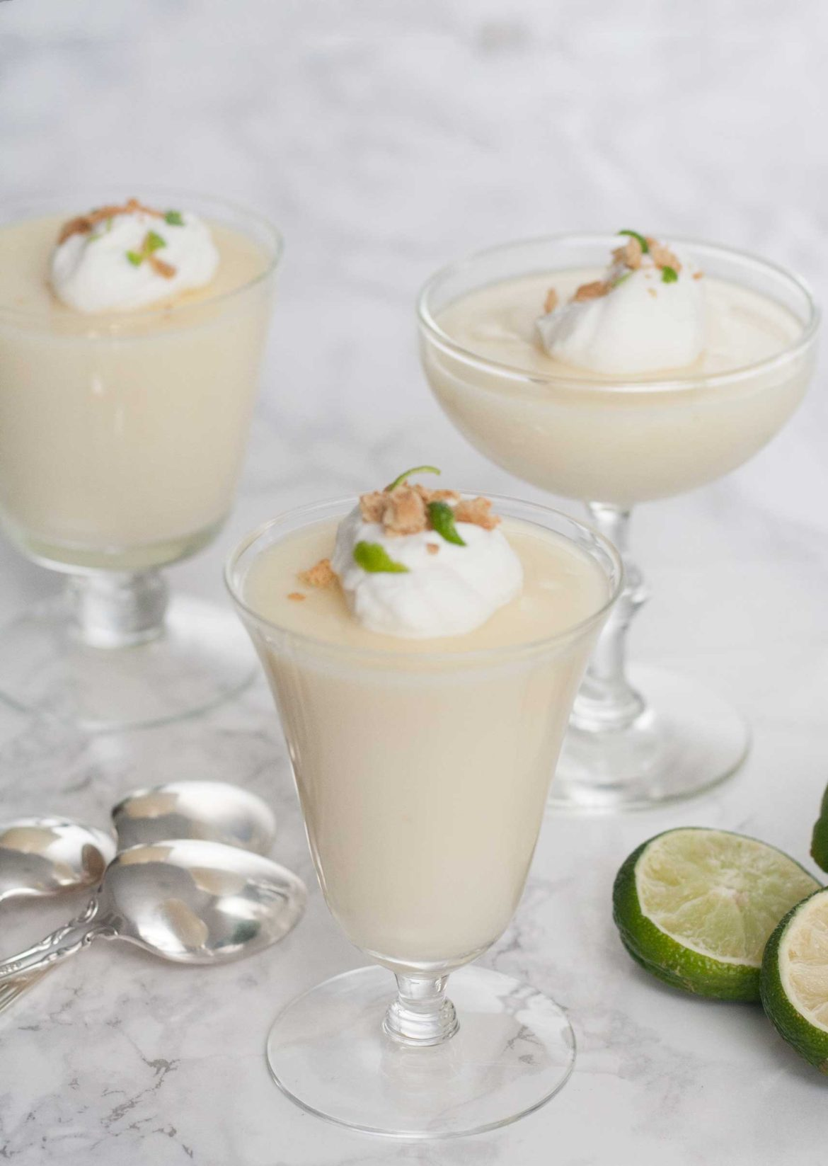 easy key lime posset pudding custard cup recipe