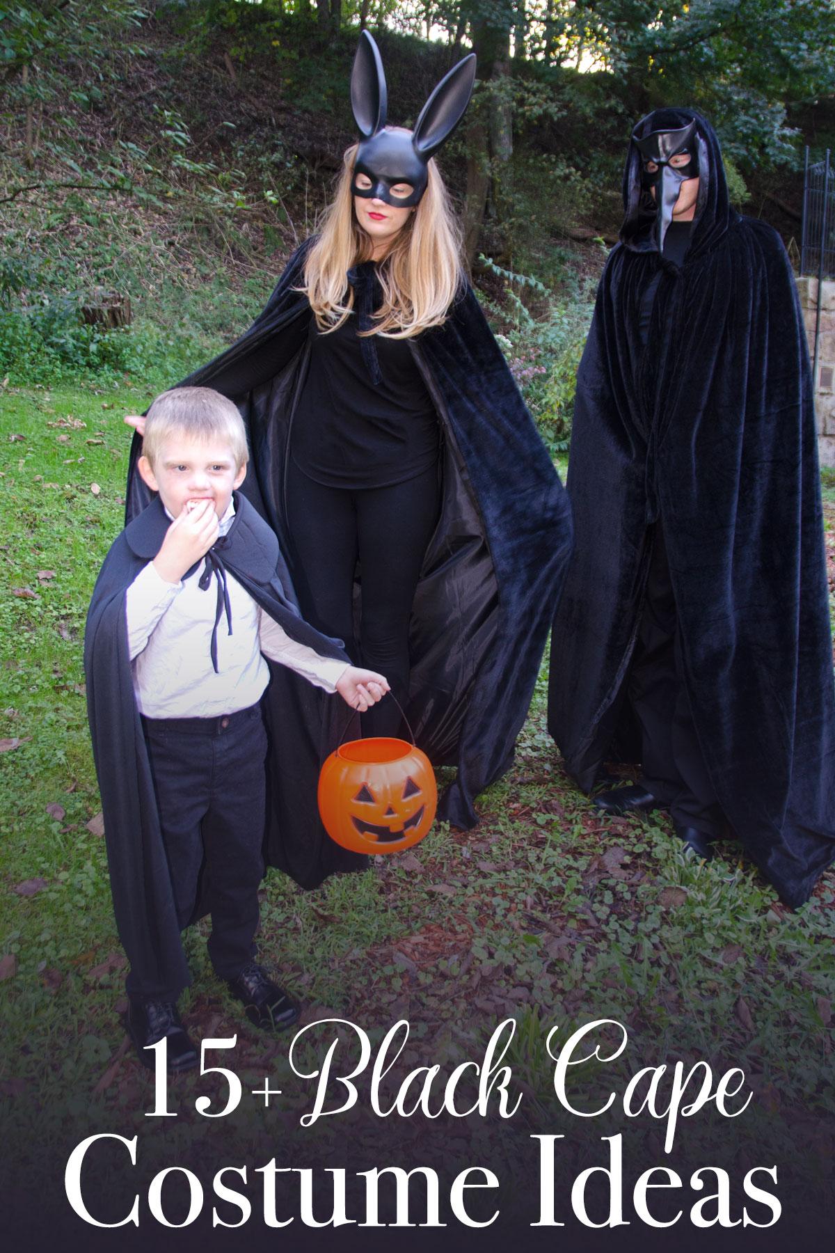 27 Black Cape Costume Ideas for the Whole Family - Bit & Bauble